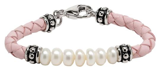Preload https://item3.tradesy.com/images/pearl-pink-leather-braided-bracelet-with-7-freshwater-cultured-pearls-976592-0-0.jpg?width=440&height=440