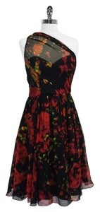 Tracy Reese short dress Multi Color Print Silk on Tradesy