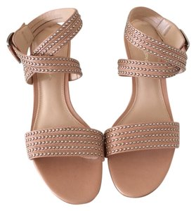 Via Spiga Nude with gunmetal studs Sandals