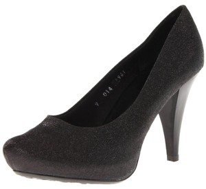 Gabriella Rocha Textured Black Pumps