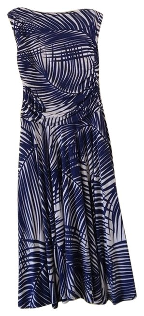 Creme and Navy Maxi Dress by Jully Kang