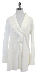 Max Mara White Cotton Blend Shirt