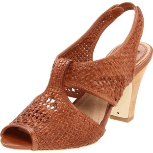 Frye Slingback Brown Platforms