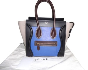 Céline Tote in Blue/Black/Beige