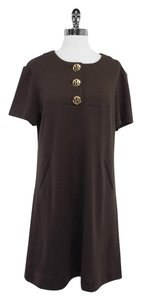 Tory Burch Brown Wool Dress