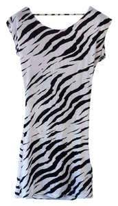 Lure High Fashion Keepsake LURE HIGH FASHION KEEPSAKE ZEBRA DRAPE DRESS