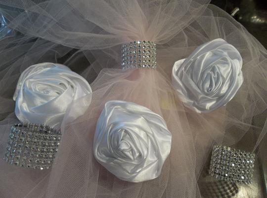 Napkin Rings 7 Row Silver Color 75pc