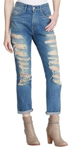 3X1 Denim Distressed 30 8 6 Boyfriend Cut Jeans-Medium Wash