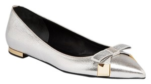 Burberry Women Syon Sale Clearance Silver Flats
