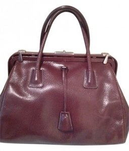 Prada Satchel in cognac