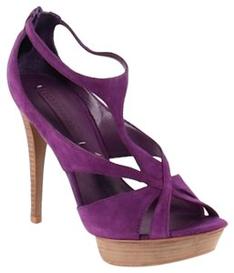 BCBGMAXAZRIA High Heels Platforms Suede Cocktail Party Purple Sandals