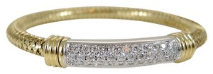Roberto Coin Roberto Coin 18K Yellow and White Gold 1.35tcw Diamond Primavera Mesh Bracelet - Retail $6200