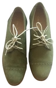Cole Haan Oxford Green Olive New Flats