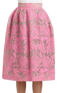 Honor luxury womanswear Silk Couture Bouffant Skirt pink/beige