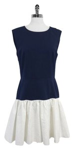 Erin Fetherston short dress Navy White Sleeveless on Tradesy