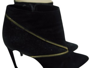 Renvy Calf Hair Suede Leather Black Boots
