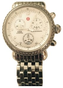 Michele Diamond and stainless steel chronograph watch