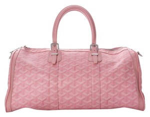 Goyard Pink Croisiere 35 Limited Edition Double Zippers Canvas Gy.h0806.08 Satchel