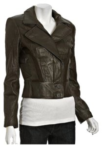 Nicole Miller Olive Leather Jacket
