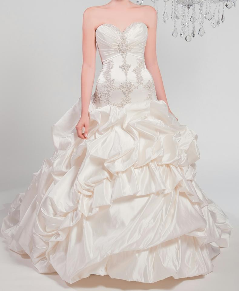 76009d58818fd Winnie Couture Diamond White 100%silk Chlomin Velouette 3133 Traditional Wedding  Dress