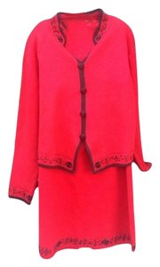 Gantos GANTOS RED 2-PIECE SWEATER SKIRT SET SIZE L