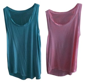 American Eagle Outfitters Top Teal and Coral