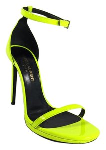 Saint Laurent Neon Yellow Sandals