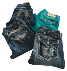 Miss Me 5 & 7 or 27&28 Boot Cut Jeans