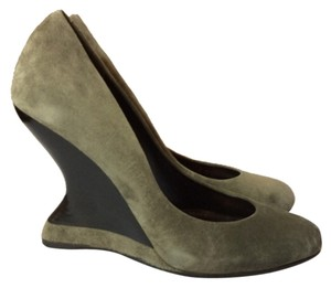 Salvatore Ferragamo Gray Wedges