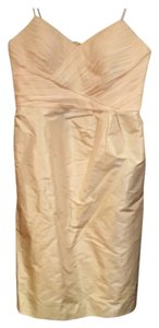 Banana Republic Champagne Br Monogram Silk Dress