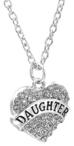 Other Daughter Crystal Silver Heart Handmade Charm Pendant Necklace