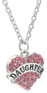 Other Daughter Crystal Pink Heart Handmade Charm Pendant Necklace