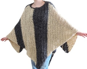 Other Crochet Contemporary One Of A Kind Striped Unique Cape