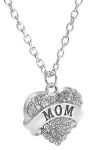 Other Mom Crystal Silver Heart Handmade Charm Pendant Necklace