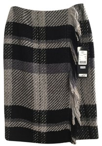 Escada Skirt Black/Grey Plaid