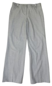 Ann Taylor Pinstriped Career Office Dress Trouser Pants Gray Pinstripe