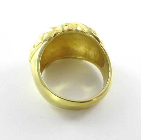 Other 14kt GE Gold Color Ring Gold Electroplate Trendy Cocktail Band Sz 8