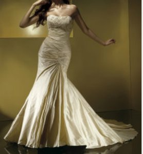 Anjolique Anjolique Gold Wedding Gown Wedding Dress