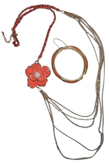 Preload https://item5.tradesy.com/images/gold-and-coral-multi-chain-necklace-977474-0-0.jpg?width=440&height=440