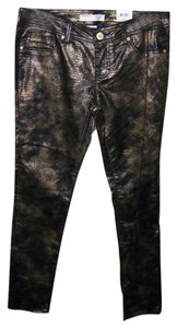 No Boundaries No 13 Junior Animal Print Metallic Skinny Pants Multi Color