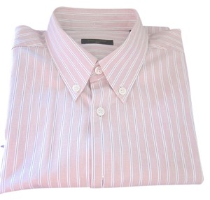 Louis Vuitton Men's L Gently Pre Owned Button Down Shirt pink