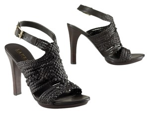 Ralph Lauren Holleen Braided Leather Dark Brown Sandals