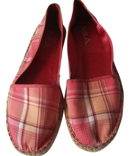 Mia Shoes red madras Flats