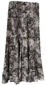 CAbi Maxi Skirt Grey and off white