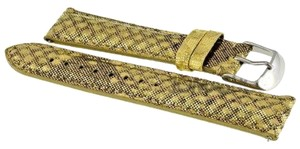 Michele Michele Watch Band Color Gold Size 18mm Material Leather