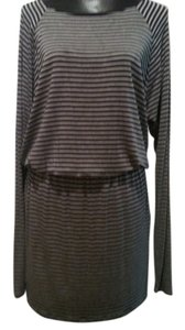 Michael Kors short dress Black and Gray Cover-up Striped on Tradesy