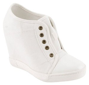 Red Circle Footwear White Wedges
