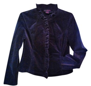 Willi Smith Velvet Ruffle Black Blazer