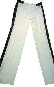 Victoria's Secret Tuxedo Striped Straight Pants Cream and black