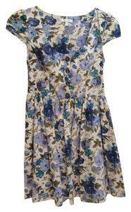 Just Ginger short dress Cream Floral on Tradesy